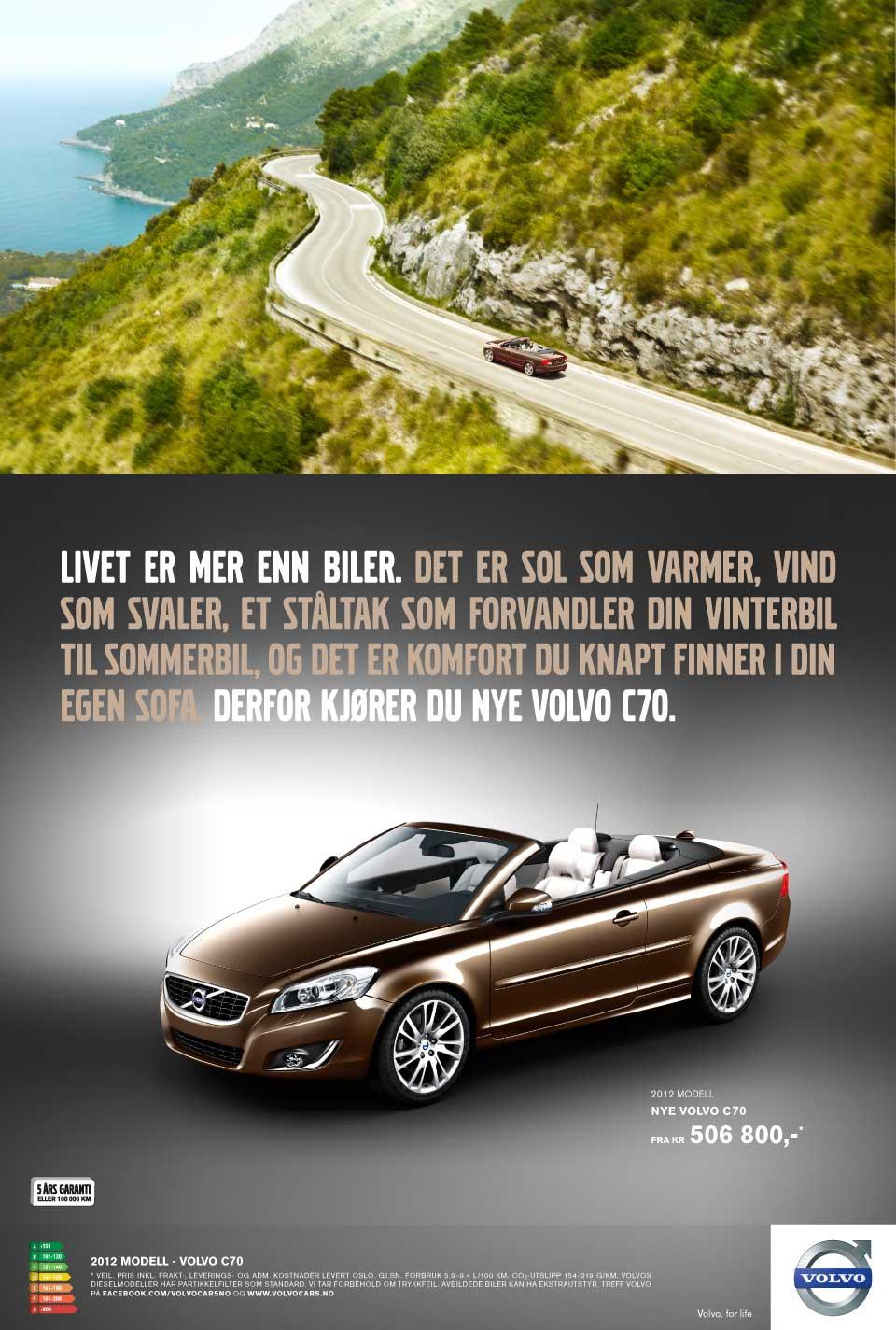 Volvo C70 - Annons